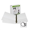 "Samsill Insertable D-Ring Binder - 2"" Binder Capacity - Letter - 8 1/2"" x 11"" Sheet Size - 3 x D-Ring Fastener(s) - White - Recycled - 1 Each"