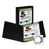 "Economy Insertable Binder - 1"" Binder Capacity - Letter - 8 1/2"" x 11"" Sheet Size - 225 Sheet Capacity - 3 x Ring Fastener(s) - 2 Internal Pocket(s) - Polypropylene, Chipboard - Black - Recycl"
