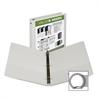 "Economy Insertable Binder - 1"" Binder Capacity - Letter - 8 1/2"" x 11"" Sheet Size - 225 Sheet Capacity - 3 x Ring Fastener(s) - 2 Internal Pocket(s) - Chipboard, Polypropylene - White - Recycl"