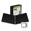 "Samsill Economy Insertable Binder - 1 1/2"" Binder Capacity - Letter - 8 1/2"" x 11"" Sheet Size - 375 Sheet Capacity - 3 x Ring Fastener(s) - 2 Internal Pocket(s) - Polypropylene, Chipboard - Black - Re"