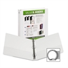 "Samsill Economy Insertable Binder - 1 1/2"" Binder Capacity - Letter - 8 1/2"" x 11"" Sheet Size - 375 Sheet Capacity - 3 x Ring Fastener(s) - 2 Internal Pocket(s) - Polypropylene, Chipboard - White - Re"