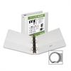 "Samsill Economy Insertable Binder - 3"" Binder Capacity - Letter - 8 1/2"" x 11"" Sheet Size - 575 Sheet Capacity - 3 x Ring Fastener(s) - 2 Internal Pocket(s) - Polypropylene, Chipboard - White - Recycl"