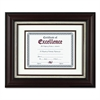 "Wall Frame - 14"" x 11"" Frame Size - Holds 11"" x 8.50"" Insert - Wall Mountable - Burgundy"