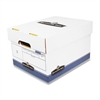 "Bankers Box R-Kive Offsite Storage Box - Internal Dimensions: 12"" Width x 15"" Depth x 10"" Height - External Dimensions: 12.9"" Width x 16.6"" Depth x 10.3"" Height - Lift-off Closure - Stackable - Blue,"