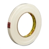 "Scotch Premium Grade Filament Tape - 0.75"" Width x 60 yd Length - 3"" Core - Synthetic Rubber - Glass Yarn Backing - 1 / Roll - Clear"