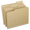 "Pendaflex Earthwise 2-tone File Folders - 9 1/2"" x 11 3/4"" Sheet Size - 1/3 Tab Cut - Assorted Position Tab Location - 11 pt. Folder Thickness - Natural - Recycled - 100 / Box"