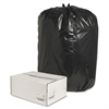 "Nature Saver Trash Liner - Extra Large Size - 60 gal - 38"" Width x 58"" Length x 1.65 mil (42 Micron) Thickness - Low Density - Black - Plastic - 100/Box - Cleaning Supplies"