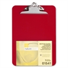 "Nature Saver Recycled Clipboard - 1"" Clip Capacity - 8.50"" x 12"" - Heavy Duty - Plastic - Red"