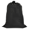 "Genuine Joe Hvy-duty 42-gal Contractor Cleanup Bags - Large Size - 42 gal - 33"" Width x 48"" Length x 2.50 mil (63 Micron) Thickness - Low Density - Black - 20/Carton - Kitchen"