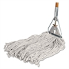 "Cotton Wet Mop with Handle - 60"" x 0.94"" Cotton Head - Wood Handle - Lightweight - 1 Each"
