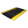 "Genuine Joe Safe Step Anti-Fatigue Floor Mats - Warehouse, Factory - 60"" Length x 36"" Width - Black, Yellow"