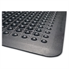 "Genuine Joe Flex Step Rubber Anti-Fatigue Mats - Warehouse - 60"" Length x 36"" Width - Rubber - Black"