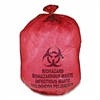 "Medegen MHMS Red Biohazard Infectious Waste Bags - 25 gal - 31"" Width x 41"" Length x 1.10 mil (28 Micron) Thickness - Red - 50/Box - Office Waste"