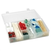"Infinite Divider Systems Medium Infinite Divider Storage Box - External Dimensions: 11"" Length x 6.8"" Width x 1.8"" Depth - 10 Dividers - Snap-tight Closure - Heavy Duty - Polypropylene - Clear - For M"
