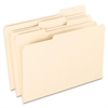 "100% Recycled Paper Top Tab File Folder - Legal - 8 1/2"" x 14"" Sheet Size - 1/2"" Expansion - 1/3 Tab Cut - Assorted Position Tab Location - 11 pt. Folder Thickness - Manila - Manila - 100 /"