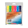 Integra Chisel Desk Liquid Highlighters - Chisel Point Style - Assorted Water Based Ink - Assorted Barrel - 6 / Set