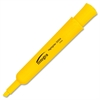 Integra Desk Highlighter - Chisel Point Style - Yellow Water Based Ink - Yellow Barrel - 1 Dozen