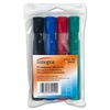 Integra Permanent Chisel Markers - Chisel Point Style - Assorted - 4 / Set