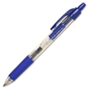 Integra Retractable 0.7mm Gel Pens - Medium Point Type - 0.7 mm Point Size - Blue Gel-based Ink - Clear Barrel - 1 Dozen