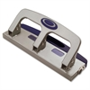 "Deluxe Standard Hole Punch - 3 Punch Head(s) - 20 Sheet Capacity - 9/32"" Punch Size - Silver"