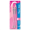 Paper Mate FlexGrip Elite Antimicrobial Pen - Refillable - Black Alcohol Based Ink - Pink Barrel - 2 / Pack