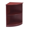 "Mayline Corsica Series Quarter Round Bookcase - 19"" Width x 16"" Depth x 29.5"" Height - Beveled Edge - Veneer, Wood - Sierra Cherry"