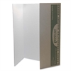 "Pacon Spotlight Single-walled Tri-fold Presentation Board - 40"" Height x 28"" Width - White Surface - 8 / Carton"