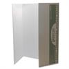 "Spotlight Single-walled Tri-fold Presentation Board - 40"" Height x 28"" Width - White Surface - 8 / Carton"