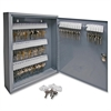 "Sparco All Steel Hook Design Key Cabinet - 14"" x 3"" x 17.1"" - Security Lock - Gray - Steel"