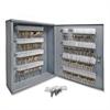 "Sparco All Steel Hook Design Key Cabinet - 16.5"" x 4.9"" x 20.1"" - Security Lock - Gray - Steel"