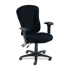 "Lorell Accord Fabric Swivel Task Chair - Polyester Black Seat - Black Frame - 26.8"" Width x 26"" Depth x 51"" Height"