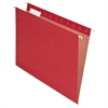"100% Recycled Paper Hanging Folder - Letter - 8 1/2"" x 11"" Sheet Size - 1/5 Tab Cut - Red - 25 / Box"