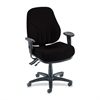 "Lorell Baily High-Back Multi-Task Chair - Acrylic Black Seat - Black Frame - 26.9"" Width x 26"" Depth x 44"" Height"