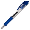Integra Retractable Gel Pen - Fine Point Type - 0.5 mm Point Size - Blue Gel-based Ink - Blue Barrel - 1 Dozen
