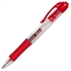 Integra Retractable Gel Pen - Fine Point Type - 0.5 mm Point Size - Red - Red Barrel - 1 Dozen