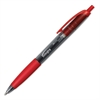 Integra Rubber Grip Retractable Pen - Medium Point Type - Red - Red Barrel - 1 Dozen