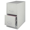 """Lorell Vertical Fle - 15"""" x 26.5"""" x 28.4"""" - 2 x Drawer(s) for File - Letter - Vertical - Security Lock, Ball-bearing Suspension, Heavy Duty - Light Gray - Steel - Recycled"""