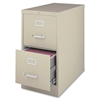 "Lorell Vertical file - 15"" x 26.5"" x 28.4"" - 2 x Drawer(s) for File - Letter - Vertical - Security Lock, Ball-bearing Suspension, Heavy Duty - Putty - Steel - Recycled"