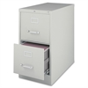 "Vertical file - 15"" x 25"" x 28.4"" - 2 x Drawer(s) for File - Letter - Vertical - Security Lock, Ball-bearing Suspension, Heavy Duty - Light Gray - Steel - Recycled"
