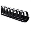 Plastic Binding Spine - 200 x Sheet Capacity - Black - Plastic - 100 / Box