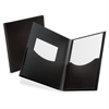 "Oxford Double Stuff Poly Twin Pocket Folders - Letter - 8 1/2"" x 11"" Sheet Size - 200 Sheet Capacity - 2 Pocket(s) - Polypropylene - Black - 1 Each"