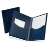 "Poly Double Stuff Twin Pocket Folders - Letter - 8 1/2"" x 11"" Sheet Size - 200 Sheet Capacity - 2 Pocket(s) - Polypropylene - Opaque - 1 Each"