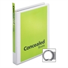 "Cardinal ProVue Non-stick Round Ring View Binder - 1"" Binder Capacity - Letter - 8 1/2"" x 11"" Sheet Size - 225 Sheet Capacity - 1"" Spine Width - 3 x Round Ring Fastener(s) - 2 Inside Front & Back Pock"