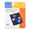 "Standard Round Corner Presentation Cover - 8 3/4"" x 11 1/4"" Sheet Size - Plastic - Clear - 100 / Pack"