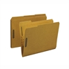 "Fastener Folder - Letter - 8 1/2"" x 11"" Sheet Size - 2 Fastener(s) - Top Tab Location - Kraft - Recycled - 50 / Box"