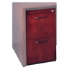 "Corsica Veneer Series File Pedestal - 15.3"" Width x 18"" Depth x 27"" Height - 2 - Beveled Edge - Hardwood, Wood - Mahogany, Veneer"