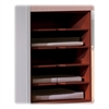 "Mayline Aberdeen Horizontal Paper Manager - 15"" x 11.8"" x 20.3"" - Fluted Edge - Material: Particleboard - Finish: Cherry, Laminate"