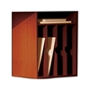 "Aberdeen Vertical Paper Manager - 15"" x 11.8"" x 20.3"" - Fluted Edge - Material: Particleboard - Finish: Cherry, Laminate"