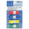 "Sparco Small Flag - 0.50"" - Assorted - See-through, Self-adhesive, Removable - 140 / Pack"