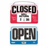 "U.S. Stamp & Sign Will Return Sign w/ Dial-A-Time - 1 Each - Close, Will Return Print/Message - 11"" Width x 8"" Height - Mounting Hardware, Customizable Time - Plastic - Multicolor"